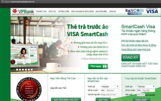 Thẻ Visa ảo của VPBank