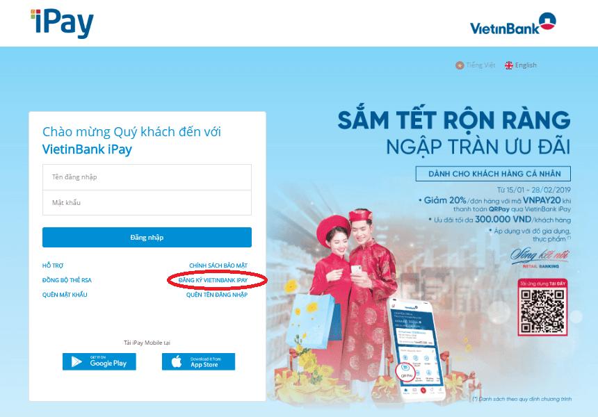 Hướng dẫn cách đăng ký Internet Banking Vietinbank