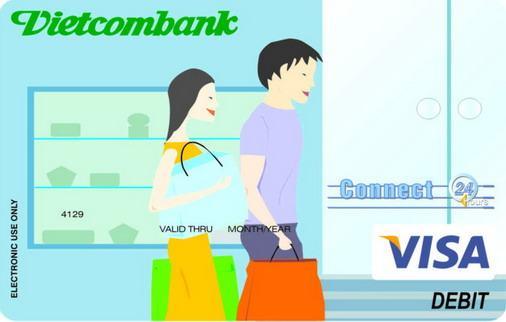 Thẻ VISA Vietcombank mua sắm