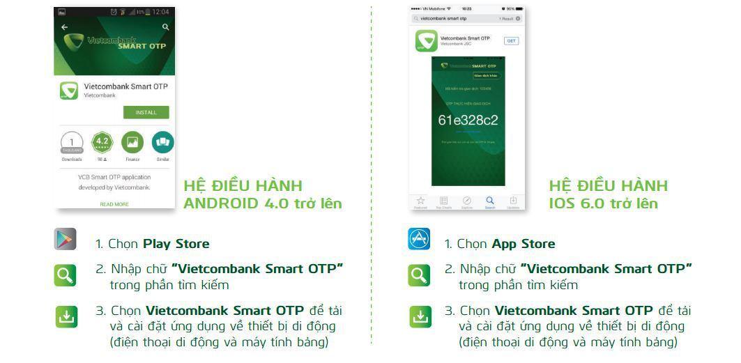 Cách cài đặt ứng dụng của Vietcombank
