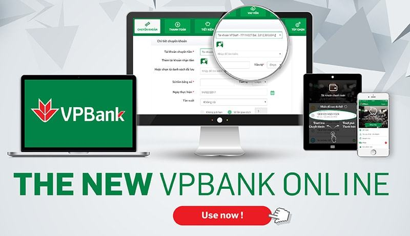 Từng bước đổi và lấy lại mật khẩu Internet Banking VPBank?