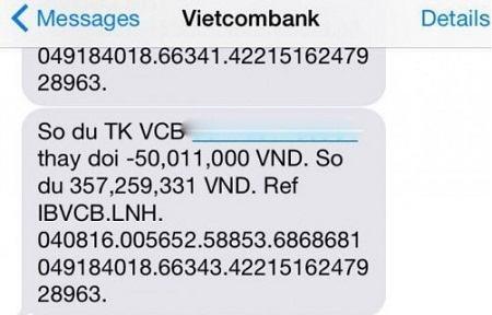 Cách Kiểm tra, xem Lịch sử giao dịch tài khoản Vietcombank