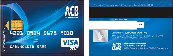 Các bước làm thẻ visa ACB