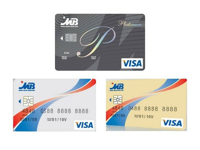 Các loại thẻ Visa MB