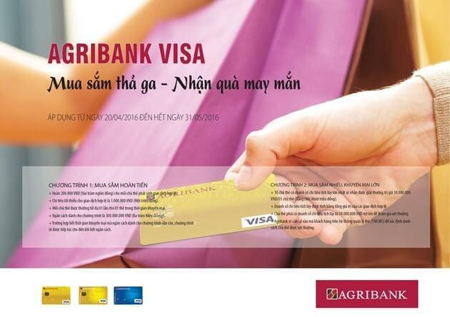 Tiện ích sử dụng của thẻ Visa Agribank