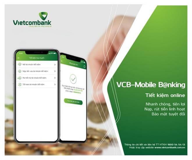 Gửi tiết kiệm online VCB tốt