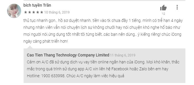 phản hồi khách hàng