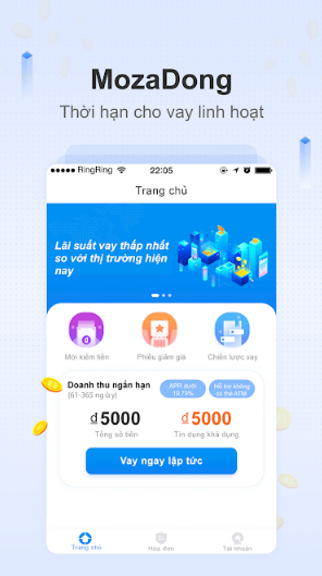app moza vay tiền mặt