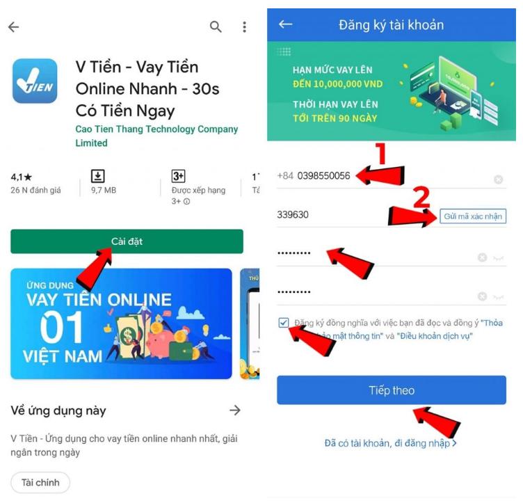 Tải app đăng ký tài khoản