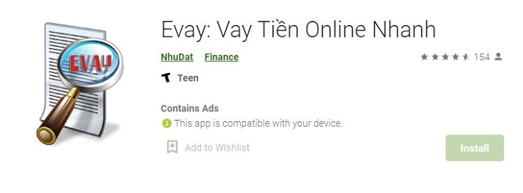 Evay - App, Ứng dụng vay tiền Online mới, lãi suất thấp 2020