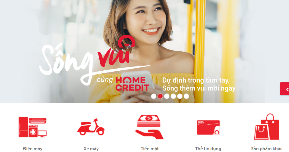 App vay tiền nhanh Home Credit