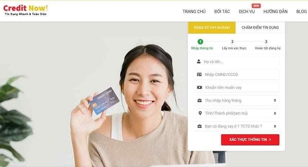 web vay tiền creditnow
