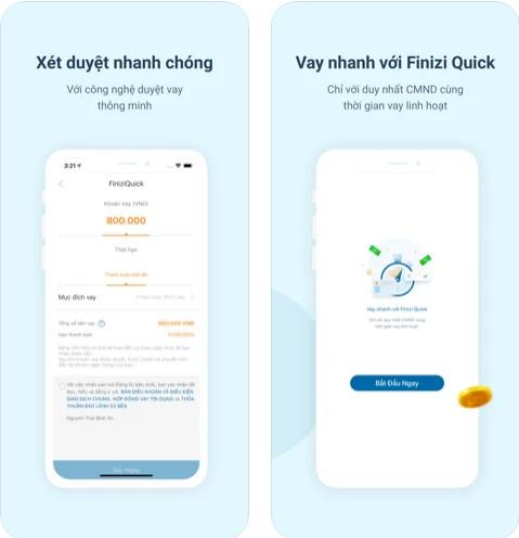 vay nhanh với app Finizi