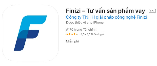 app Finizi tư vấn vay tiền