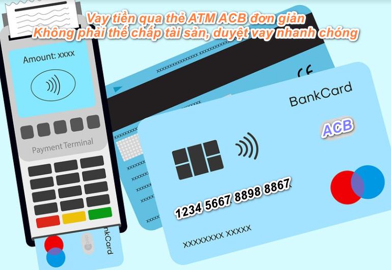 Hướng dẫn vay tiền qua thẻ ATM ACB hỗ trợ nhanh