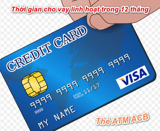 Vay tiền qua thẻ tín dụng ACB