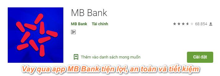 vay tiền qua app MB Bank