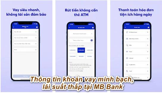 cách vay tiền qua app MB Bank